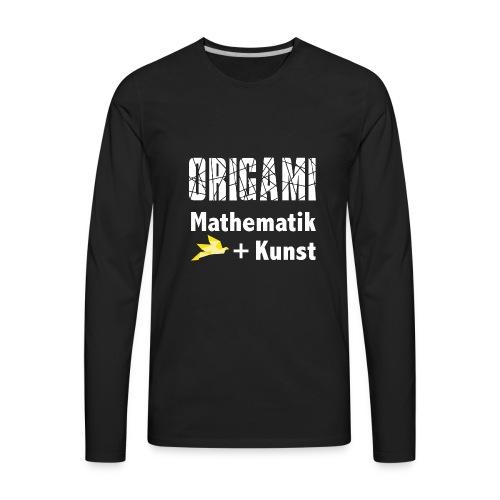 Origamiformel: Mathematik und Kunst - Men's Premium Long Sleeve T-Shirt