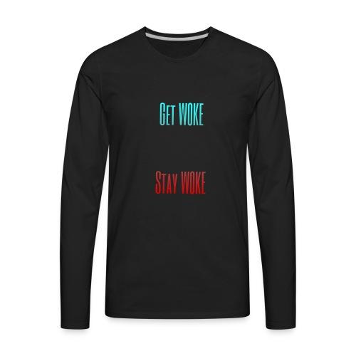Stay W0KE - Men's Premium Long Sleeve T-Shirt