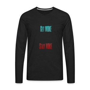 Stay W0KE - Men's Premium Long Sleeve T-Shirt