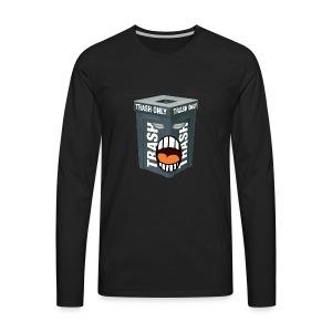 Trash Mouth Large Logo - Men's Premium Long Sleeve T-Shirt