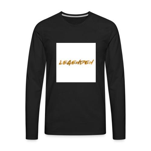Hvit bakgrunn - Men's Premium Long Sleeve T-Shirt