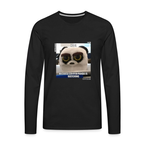 Crypto Panda Is Watching (Crypto Series) - Men's Premium Long Sleeve T-Shirt