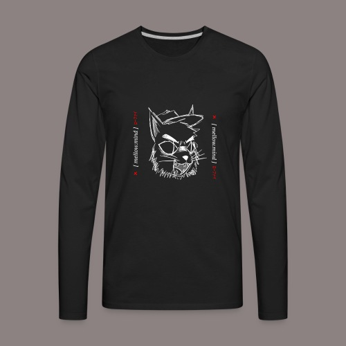 Mellow Mind (White on Black) - Men's Premium Long Sleeve T-Shirt