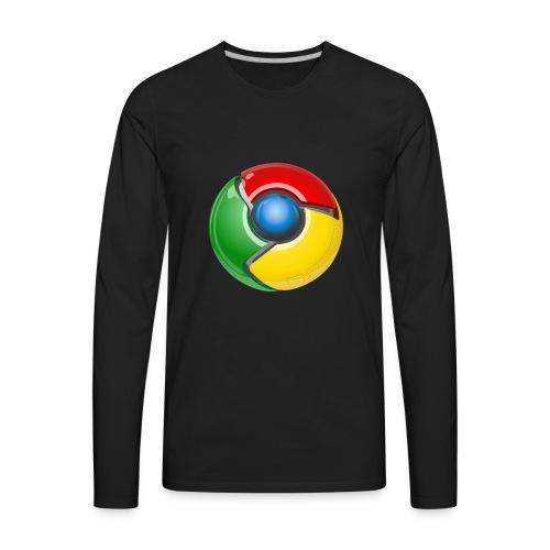 Google chrome logo - Men's Premium Long Sleeve T-Shirt