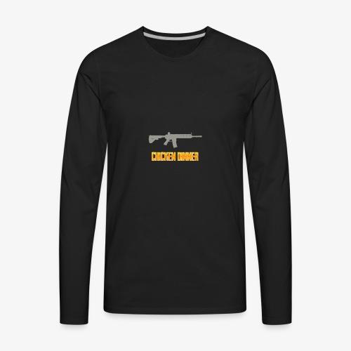 416 chicken dinner - PUBG Battlegrounds - Men's Premium Long Sleeve T-Shirt
