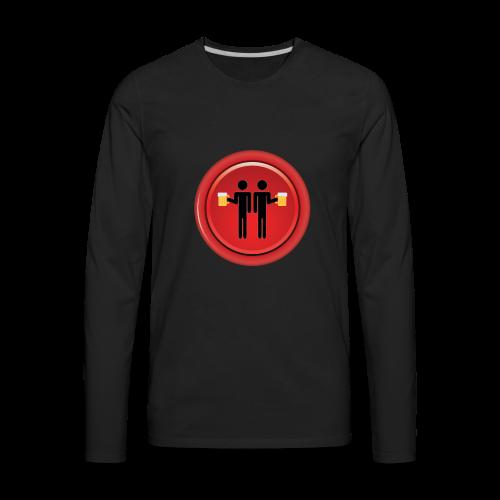 Drinking Buddies Red - Men's Premium Long Sleeve T-Shirt