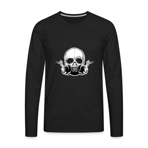 WarBoy Smokin' Skull - Men's Premium Long Sleeve T-Shirt