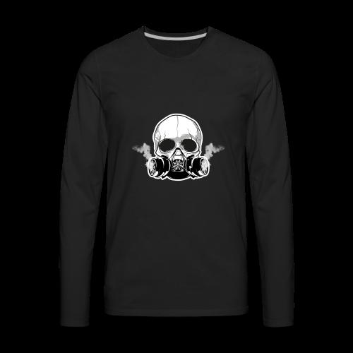 WarBoy Smokin' Skull - Men's Premium Long Sleeve T-Shirt