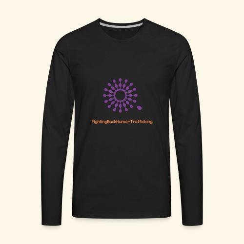 Fighting back human trafficking - Men's Premium Long Sleeve T-Shirt
