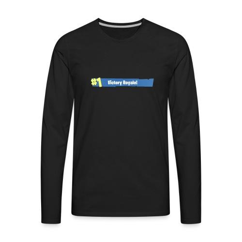 #1 Victory Royale - Men's Premium Long Sleeve T-Shirt