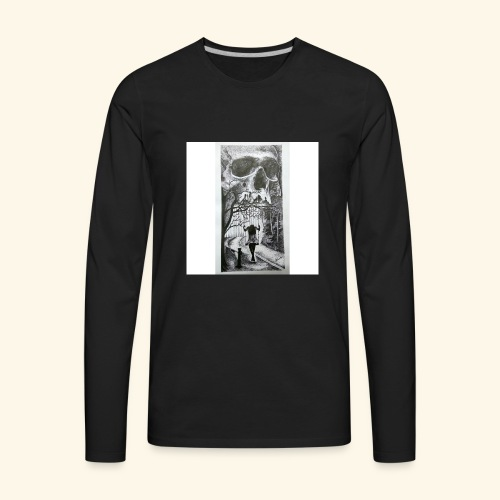 HAUNTED - Men's Premium Long Sleeve T-Shirt