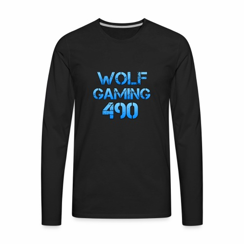 Wolfgaming490 Logo - Men's Premium Long Sleeve T-Shirt