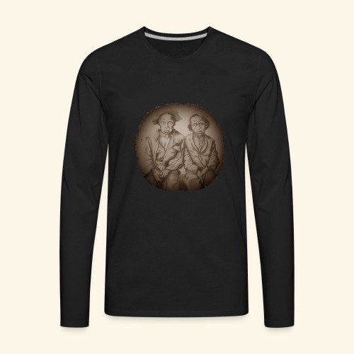 two young slaves - Men's Premium Long Sleeve T-Shirt