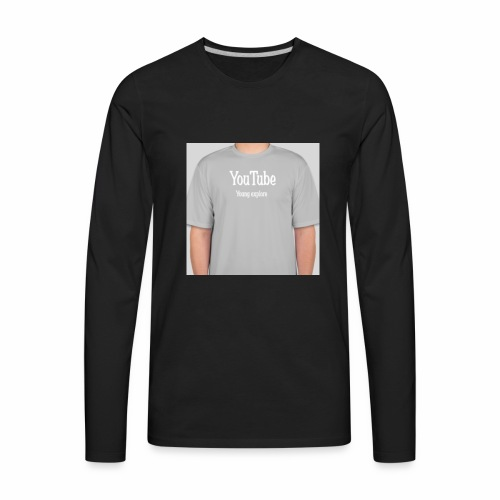 Young explore YouTube shirt - Men's Premium Long Sleeve T-Shirt