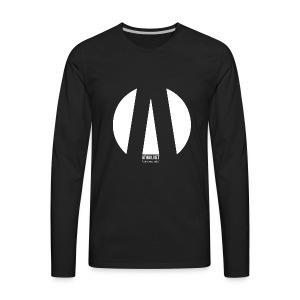 "ATHAK (band) LOGO WHITE ""la fin du temps, perdue"" - Men's Premium Long Sleeve T-Shirt"