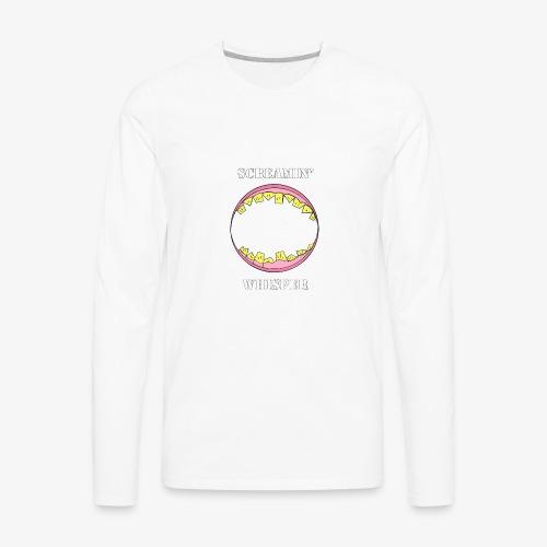 Screamin' Whisper - Men's Premium Long Sleeve T-Shirt