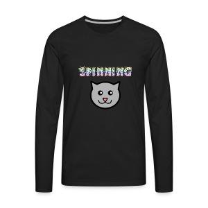 Spinning Cat - Men's Premium Long Sleeve T-Shirt