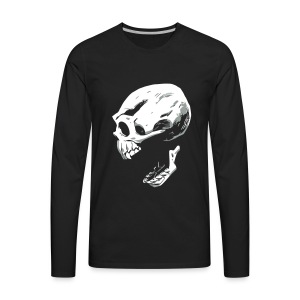 Screaming Skull - Men's Premium Long Sleeve T-Shirt