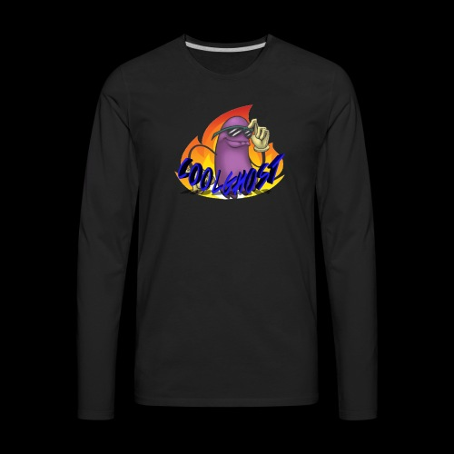 COOLGHOST LOGO - Men's Premium Long Sleeve T-Shirt