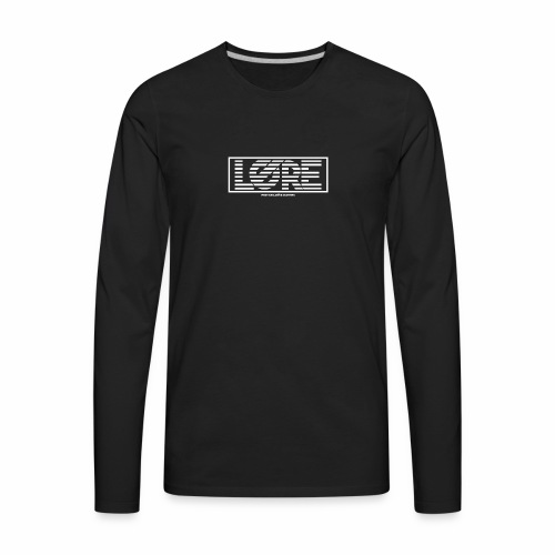 ''Lore'' Logo White Stripes - Men's Premium Long Sleeve T-Shirt