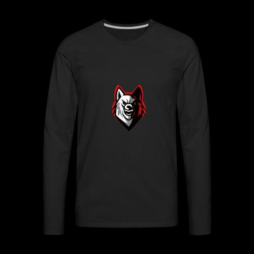 wolf logo by supreme_gamer7 - Men's Premium Long Sleeve T-Shirt