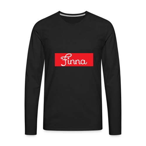 Red Finna logo - Men's Premium Long Sleeve T-Shirt