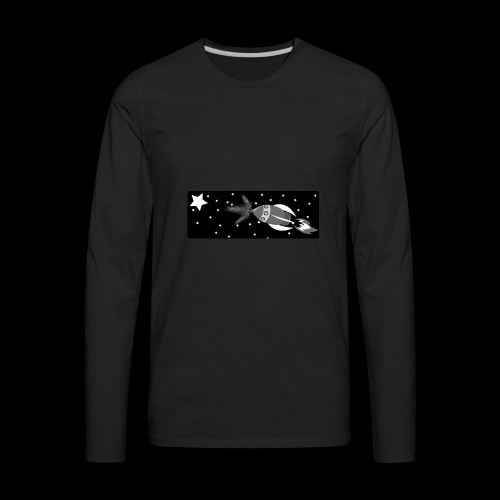 Deep Space John Logo - Men's Premium Long Sleeve T-Shirt