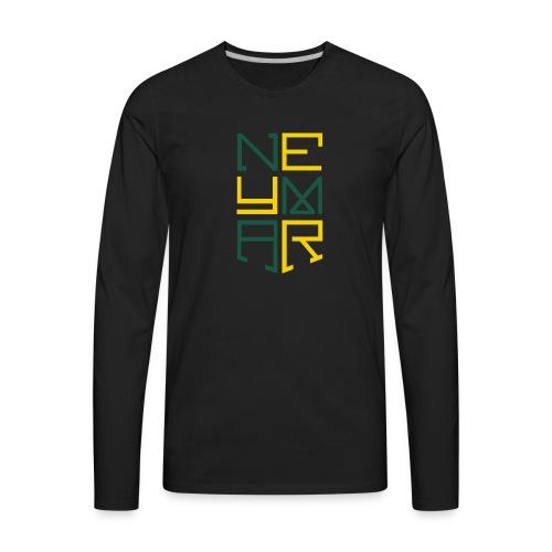 Neymar T Shirt Design - Men's Premium Long Sleeve T-Shirt