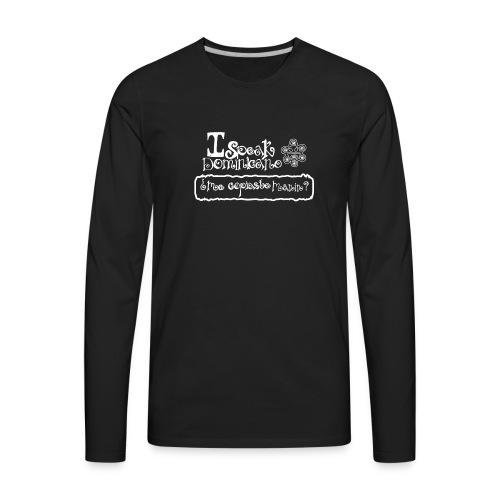 ispeakdominicano - Men's Premium Long Sleeve T-Shirt