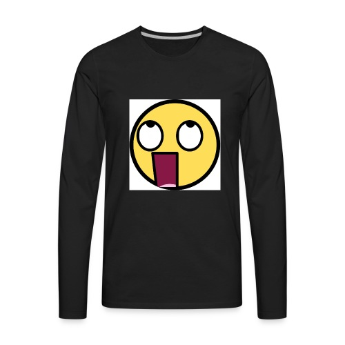 shocked f - Men's Premium Long Sleeve T-Shirt