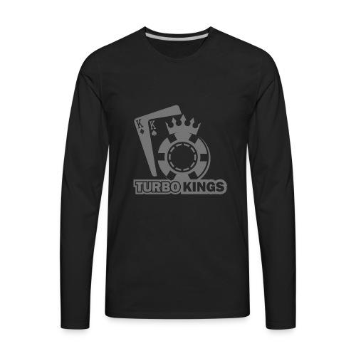 Turbokingslogo_b/w - Men's Premium Long Sleeve T-Shirt