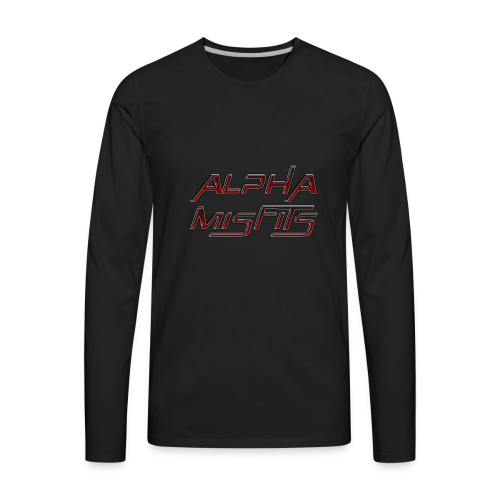 Alphamisfits Name Logo - Men's Premium Long Sleeve T-Shirt