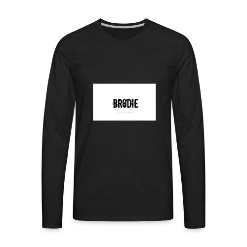 tattoo design name brodie 06 - Men's Premium Long Sleeve T-Shirt