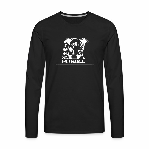 I love pit bulls - Men's Premium Long Sleeve T-Shirt