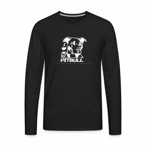 I love pit bulls - Men's Premium Long Sleeve T-Shirt