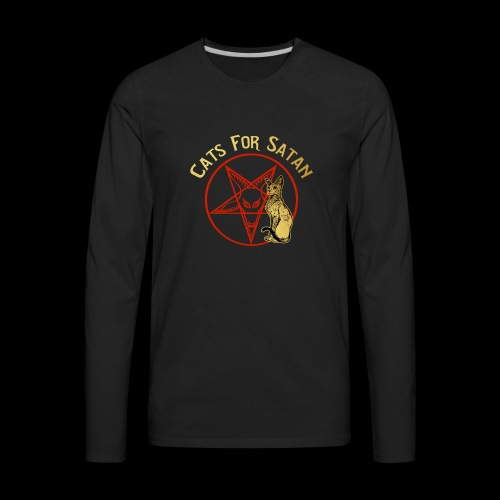 Cats For Satan by BelDisegno of Italy - Men's Premium Long Sleeve T-Shirt
