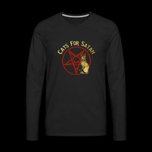 Cats For Satan by BelDisegno of Italy - Men's Premium Long Sleeve T-Shirt