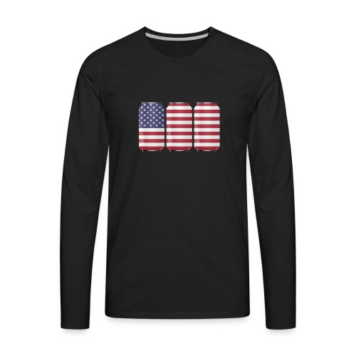 beer can USA Flag - Men's Premium Long Sleeve T-Shirt