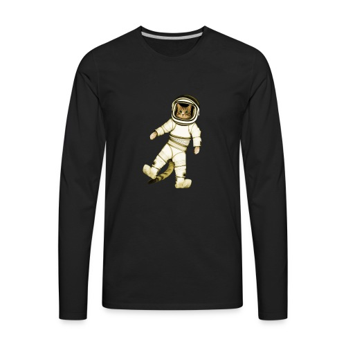 Outer-Space Astronaut Kitty - Men's Premium Long Sleeve T-Shirt