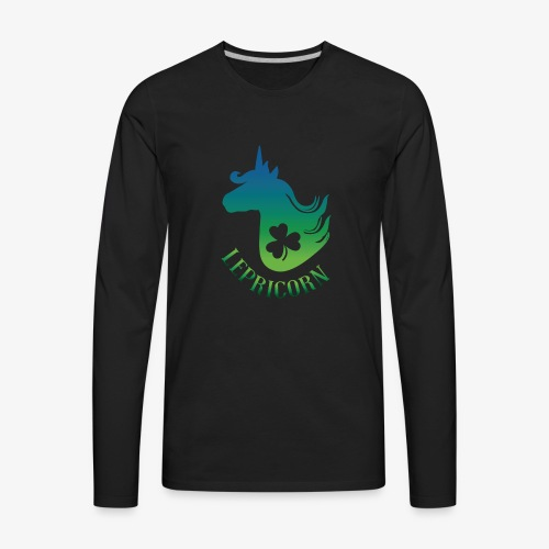 Unicorn Leprechaun St Patricks day - Men's Premium Long Sleeve T-Shirt