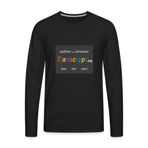 Transcrypt Logo - Men's Premium Long Sleeve T-Shirt