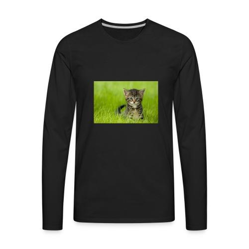 chat - T-shirt Premium à manches longues pour hommes