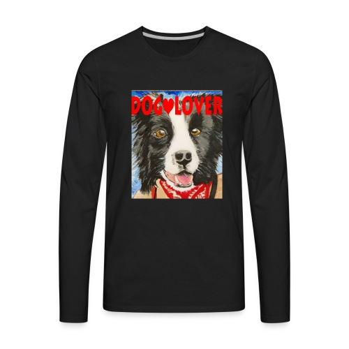 dog-lover border collie - Men's Premium Long Sleeve T-Shirt