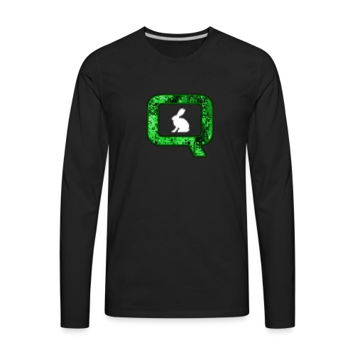 Q QANON Green Follow The White Rabbit - Men's Premium Long Sleeve T-Shirt