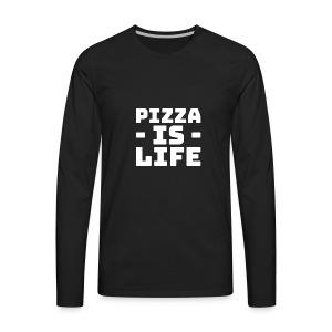Pizza is life - Men's Premium Long Sleeve T-Shirt