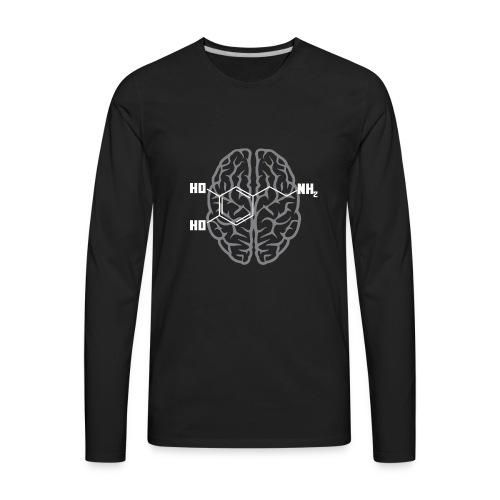Dopamine Molecule for Science Nerds - Men's Premium Long Sleeve T-Shirt