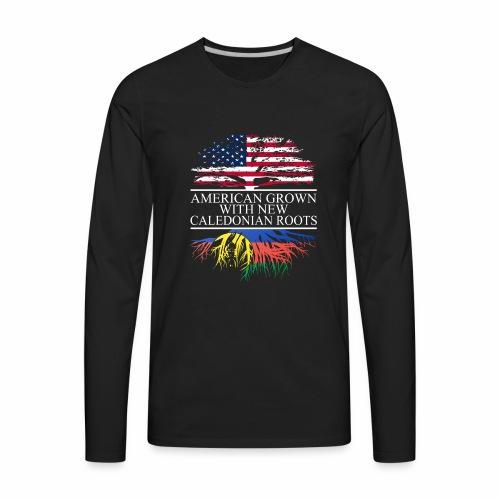 american grown with new caledonian roots original - Men's Premium Long Sleeve T-Shirt