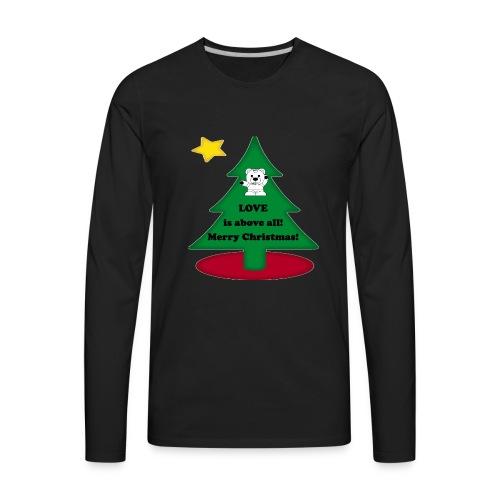 Christmas is love - Men's Premium Long Sleeve T-Shirt