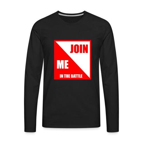 TheRedShirtLogo002 - Men's Premium Long Sleeve T-Shirt