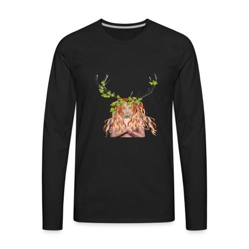Female Green Woman - Men's Premium Long Sleeve T-Shirt